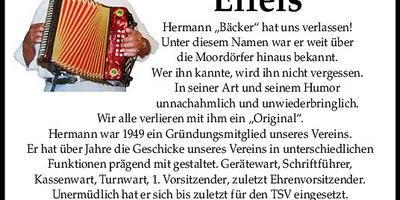 Nachruf Hermann Eifels